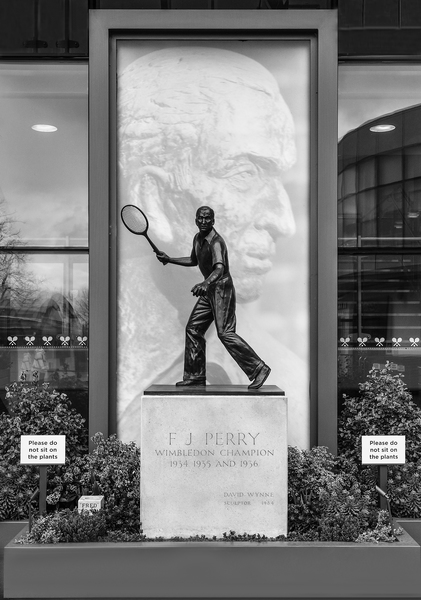 Fred Perry Staue All England Club Wimbledon